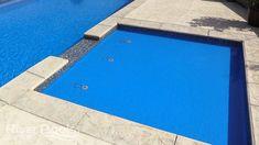 How Deep Should a Tanning Ledge Be? Fiberglass Pool Manufacturers, Ledge Lounger, Fiberglass Swimming Pools, Pool Picture, Concrete Pool, Pool Furniture, Concrete Projects, Floating In Water, Swimming Pool Designs