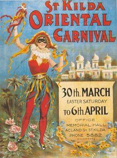 St Kilda Carnival Poster 1990