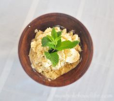 Pina Colada Ice Cream.  Summertime in a bowl.  Vegan and gluten free.