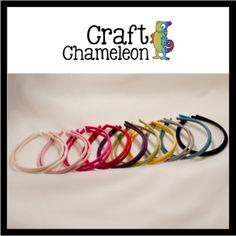 Set of 12 ~ Faux Suede covered Headbands Standard Size – CraftChameleon