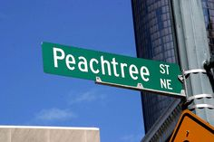 Peachtree Street Sign