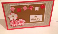 I quite like this Stampin Up birthday card...