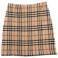 TARTAN SKIRT BURBERRY (215 BRL) ❤ liked on Polyvore featuring skirts, bottoms, burberry, saias, burberry skirt, tartan plaid skirt, plaid skirt and beige skirt