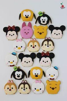 Mickey & Minnie Donald & Daisy Pluto & Goofy Chip & Dale Winnnie the Pooh & Piglet Tsum Tsum Cookies