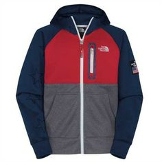 The North Face Boys  Village Full Zip Hoodie - Cheer on the Americans at the Sochi Winter Olympics!