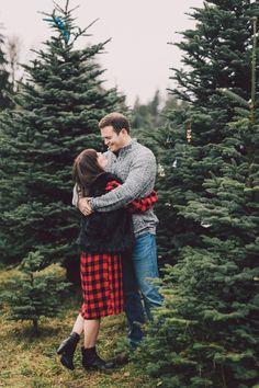 Engagement photo shoot at Pilchuck Secret Valley Tree Farm #engagementphotos #treefarm #lumaweddings #becomingcarlson #pilchucksecretvalleytreefarm