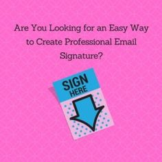 create a professional email signature for free contact project