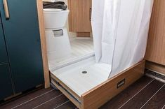 SPORT & FUN Interior pull-out shower tray Source by weinlder Related posts: Ford Transit – Home on wheels ! 50 Cool and Fresh Ideas Van Life Interior Design Ford Transit – home on wheels!