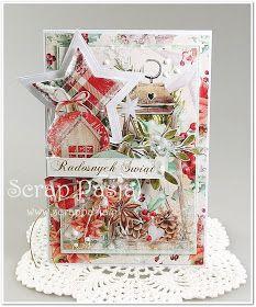 Scrap Pasja: Świąteczne kolekcje Create Christmas Cards, Christmas Tag, A Christmas Story, Xmas Cards, Christmas Trees, Holiday Cards, Christmas Crafts, White Christmas, Card Making Inspiration