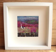 Felt Picture Scottish Hills Cottage and by AileenClarkeCrafts, £55.00
