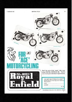 1963 ROYAL ENFIELD 250 CONTINENTAL,SUPER 5,CRUSADER SPORTS,CLIPPER MAG ADVERT