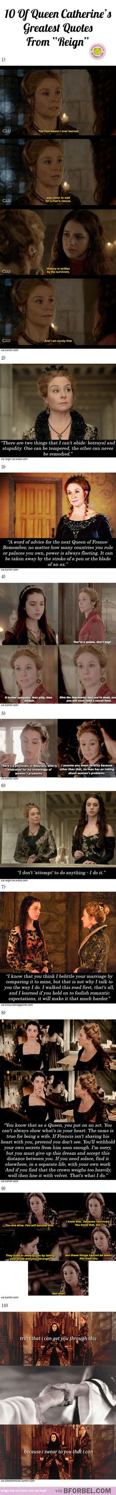 """10 Of Queen Catherine's Greatest Quotes From """"Reign""""… are her best moments Reign Mary, Mary Queen Of Scots, Queen Mary, Reign Catherine, Queen Mother, Red Queen, Tv Quotes, Movie Quotes, Great Quotes"""