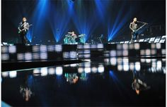 Muse on stage at Rexall Place in Edmonton.