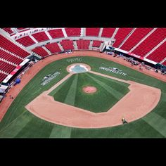 The Cincinnati Reds Great American Ballpark is readied for All-Star events, including the Celebrity game Sunday and Home Run Derby Monday. The game is Tuesday night. Cincinnati is hosting the All-Star game and weekend festivities. The Enquirer/Liz Dufour