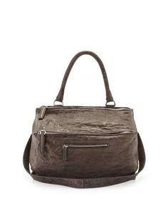 f9c46b6dbd Givenchy Pandora Medium Leather Satchel Bag, Anthracite Givenchy Pandora  Small, Mobile Pocket, Satchel