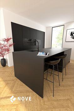 Minimal Kitchen Design, Kitchen Room Design, Living Room Kitchen, Interior Design Kitchen, New Kitchen, Bungalow Kitchen, Apartment Interior Design, Cuisines Design, Kitchen Furniture