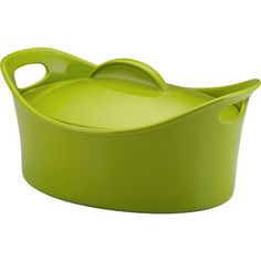Rachael Ray 4.25-Quart Stoneware Covered Oval Casserole Love these pans