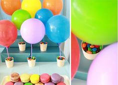 ¡Original fiesta de cumpleaños Up llena de globos!