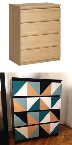 Malm hack ikeahack is creative inspiration for us. Get more photo about diy ikea. Malm hack ikeahack is creative inspiration for us. Get more photo about diy ikea decor related with Upcycled Furniture, Painted Furniture, Diy Furniture, Furniture Vintage, Ikea Dekor, Malm Hack, Ikea Furniture Makeover, Decoration Ikea, Ikea Hackers