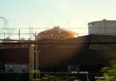 2008, Raffinerie de Los Angeles, décoration d'un réservoir pour Hallowen