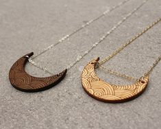 Crescent Moon Necklace Boho Necklace Tribal Necklace by ShopJoyo