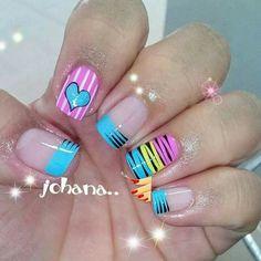 Cute Nail Art, Cute Nails, Pretty Nails, French Nail Art, Pretty Nail Designs, Natural Nails, Erika, Hair And Nails, Health And Beauty