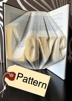The Folded Book Page - Folded Book Art - Book folding Pattern Love, English