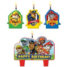 Paw Patrol Birthday Candles Cupcake Cake topper Decorations Party Supplies in Home & Garden, Greeting Cards & Party Supply, Party Supplies Paw Patrol Cake, Paw Patrol Party, Paw Patrol Birthday, 4th Birthday Parties, 3rd Birthday, Birthday Ideas, Happy Birthday, 1st Birthdays, Marianne