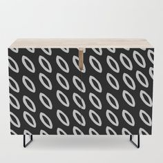 Dark-Geometric Credenza by vanid Patterned Furniture, Office Cabinets, Bar Carts, Walnut Finish, Tv Stands, Birch, Mid-century Modern, Shelf, Vibrant