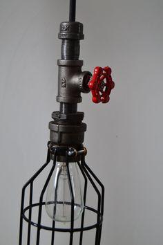 Hanging Pendant Industrial Pipe Light Edison by WestNinthVintage