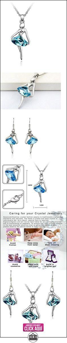 Swarovski Elements Cristal Austriaco 18k plateado oro blanco Ballet Collar pendiente, pendientes Bisutería Set Azul  ✿ Joyas para mujer - Las mejores ofertas ✿ ▬► Ver oferta: https://comprar.io/goto/B00HHT6LWI