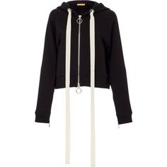 Smarteez Hooded Sweatshirt (767 905 LBP) ❤ liked on Polyvore featuring tops, hoodies, black, hooded sweatshirt, hooded pullover, hoodie top and sweatshirt hoodies