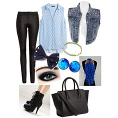 A fashion look from September 2014 featuring H&M blouses, FiveUnits jeans and VIVIER ankle booties. Browse and shop related looks.