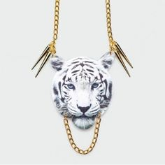 Suzywan Deluxe - Collier White Tiger