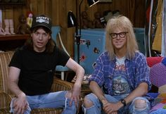 Pin for Later: 64 Pop Culture Halloween Costume Ideas For Couples Wayne and Garth From Wayne's World Homemade Halloween Costumes, Pop Culture Halloween Costume, Creative Halloween Costumes, Couple Halloween Costumes, Halloween Couples, Halloween Ideas, Family Halloween, Halloween Movies, Halloween 2017