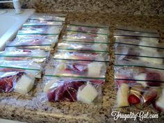 Make your own frugal freezer smoothie packs for only $0.59. Easy, cheap, grab-and-go convenience for a fraction of the store-bought cost.