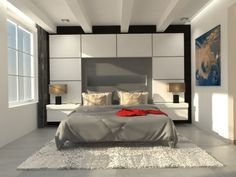 interior, design, warmth, 3d, render, bedroom, amsterdam,