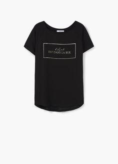 Short sleeve - T-shirts for Woman | MANGO India