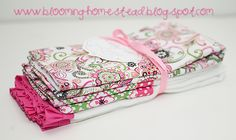 Blooming Homestead: Baby Burp Cloths