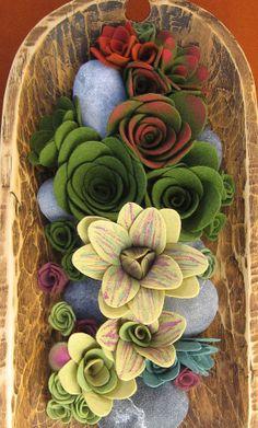 succulent faux plant collection in bowl от miasole на Etsy