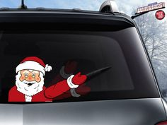 Christmas design WiperTags covers attach to rear wiper blades