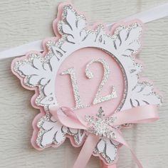 Pink Snowflake First Year Photo Banner - Winter Onederland Birthday Party Decorations - Winter Onederland Party Girl 1st Birthdays, Winter Wonderland Birthday, Winter Birthday, Birthday Photo Banner, 1st Birthday Photos, 1st Birthday Girls, Birthday Ideas, Snowflake Party, Snowflake Photos