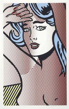 Roy Lichtenstein (1923-1997), Nude with Blue Hair