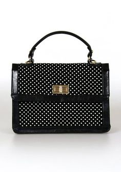 A Bit Dotty Satchel: Black from Spotted Moth