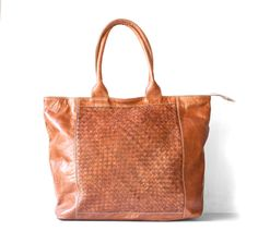 Caramel Brown Leather Shopper / Leather Tote / Shoulder by morelle