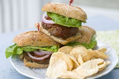 Caramelized Onion Barbecue Burgers