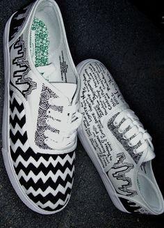 New York Missionni shoes. Custom hand-drawn!