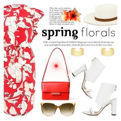 """Spring florals"" by ifchic ❤ liked on Polyvore featuring 10 Crosby Derek Lam, IRO, Jason Wu, Janessa Leone, Anja and Fallon"