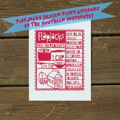 Win this adorable flapjacks screen print at The Southern Institute! @SouthernInst @LoriDanelle