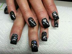 Schwarz und glitter